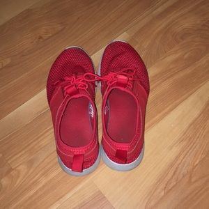 Red Nike Free shoes
